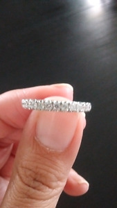 Brand new ladies diamond wedding band!
