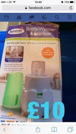 Steriliser and bottle warmer