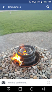 Wanted old car rims for fire pits
