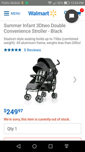 Summer Infant 3d double convenience stroller SAVE yourself $140!