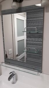 Milan Vanity Mirror with Glass Shelves