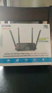 D-link wireless router and Technicolor modem