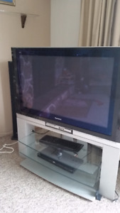 TV with Glass Tiered stand
