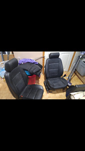 E46 BMW leather front seats