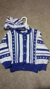NEW Adorable Sweater & Hat Set, 2T - $15