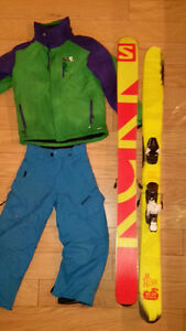 Salomon skis bindings jacket and pants Revelstoke British Columbia image 1