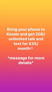 [Koodo] $35 2GB unlimited nationwide talk and text