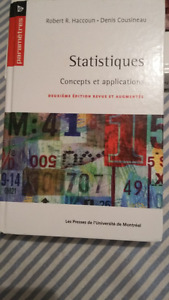Statistiques - concepts et applications