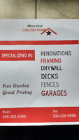 Free quotes quality work and good prices