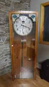 Stromberg Master Clock 1944 In Homemade Pine Grandfather Case