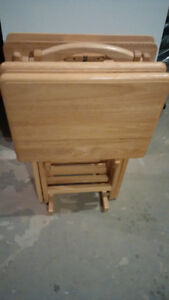 Folding TV Tray table.Set of 4