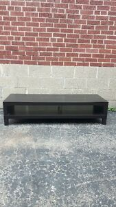 Ikea Lack Black/Brown TV Bench Great Condition – $50