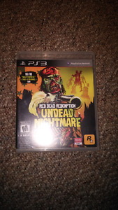 PS3 Red Dead Redemption Undead Nightmare for 7 dollars