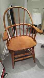 Beautiful rustic old wooden chair