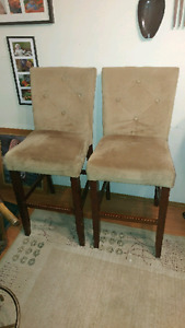2 bar stools (29 inch from floor to seat)