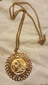 Full sovereign pendant