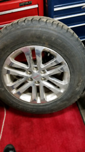 """FOUR GMC RIMS AND TIRES 265 65R 18"""" LIKE NEW ONLY USED 8 MONTHS"""