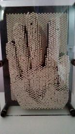 Vintage Pin Art Impression Block Activity/Desk Toy. Doorstep viewing!!