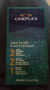 Cineplex Movie Tickets Package 2+2+1 - Great Escape