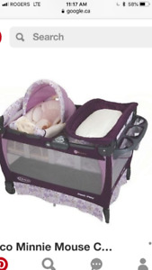 Graco Pack and Play with Baby Snuggler and change table