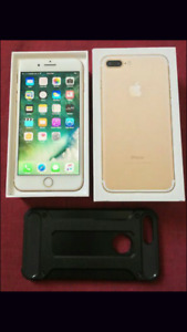 iPhone 7 plus 128gb gold gold brand new in box factory unlocked