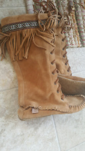 Native Amercian knee high boots