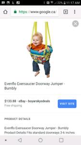 Evenflo doorway exerciser with floor mat