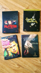 Lot de 4 DVD adulte Pulp fiction Jackie Brown Fight Club...