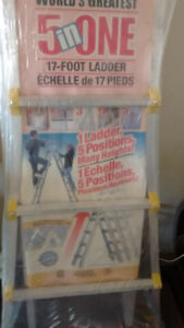"""1 x Cosco World's Greatest 5 in one 17"""" foot ladder."""