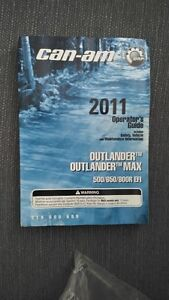 Can-am 2011 Operator's Guide