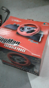 Logitech wingman steering wheel and pedals
