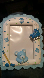 Baby blue Toronto maple leafs picture frame.