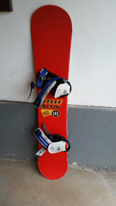 Sims Snowboard with K2 Bindings
