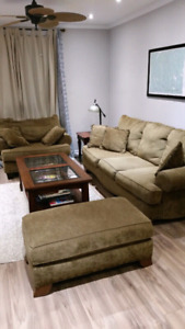 5 Piece Living Room Set (Chair, Couch, Coffee Table, TV Stand)