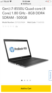 HP Probook 450 G5 i7 with 8GB