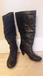 2 pair size 9 Genuine leather Aldo Boots- like new