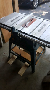 Mastercraft 15 amp table saw and stand