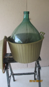 for sale a beautiful carboy of 54 L (14GLS) with plastic cover l
