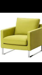 IKEA ARMCHAIR - WITH EXTRA COVER STILL IN PACKAGE.