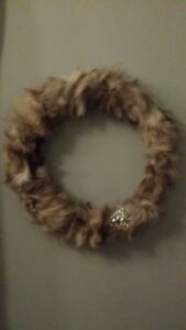 Real Fur wreathes- great Christmas Gift