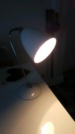 Angle poise white lamp