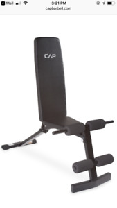 Work out bench with incline/decline/flat
