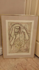Painting- Lady and candles $25