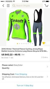 Cold weather cycling kit