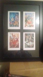 Disney Tinkerbell prints framed.