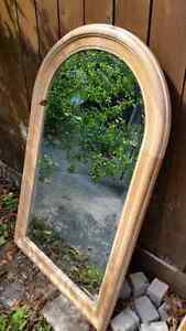 Antique reproduction beveled hall mirror