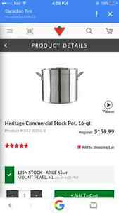 Heritage 16 QT commercial stock pot