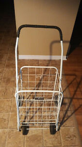 Moving Sale Folding Shopping Cart,White