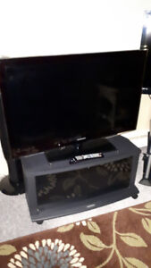 "Samsung Flat Screen 40"" TV with Stand"