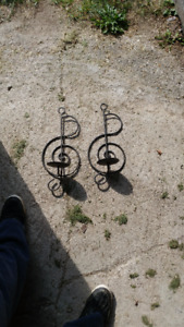 Two Treble Clef Candle holders